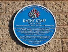 A memorial to Kathy Staff (Nora Batty).