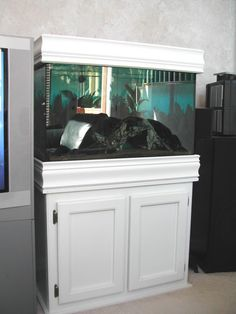 fish tank with crown molding | finished the canopy for my 29 gallon tank. Here are some pics: