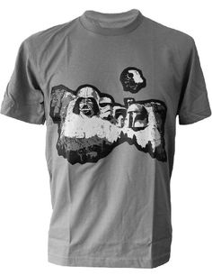 47a640d4 SODAtees funny Star Wars Heros Mount Rushmore Mountain Men's T-SHIRT - Grey  - Large