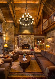Living Room with Fireplace That will Warm You All Winter - - Living Room with Fireplace That will Warm You All Winter Rustic Living Room Decor Ideas 27 Gorgeous Rustic Chic Living Rooms that You Must See Elegant Living Room, Chic Living Room, Living Room With Fireplace, Home Living Room, Living Room Designs, Rustic Living Rooms, Modern Living, Small Living, Cabin Homes