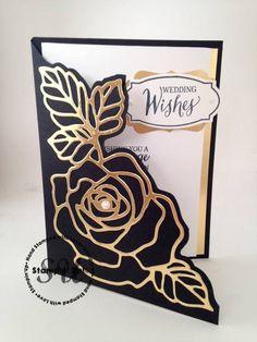 Rose Wonder, Rose Garden Thinlits, Stampin Up, StampingJo.com, wedding card, hand made card, hand stamped card, Big Shot