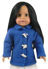 """Blue Toggle Coat Fits 18"""" American Girl Dolls"""