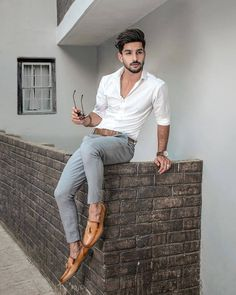 Mens Tucked in Shirt Casual Outfit 💯 Attractive Outfit. Formal Dresses For Men, Formal Men Outfit, Men Formal, Indian Men Fashion, Mens Fashion Suits, Fashion Outfits, Fashion Fashion, Fashion Ideas, Trendy Mens Fashion