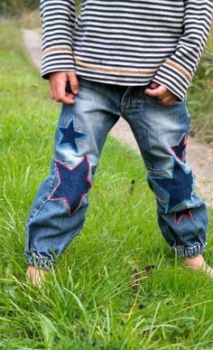 make this : denim star patches (idea from adorable pants by villapernilla on etsy)Nx