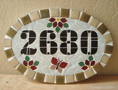 Mosaic Crafts, Mosaic Projects, Mosaic Glass, Stained Glass, Mosaic Artwork, Mosaic Pictures, Homemade Art, Mosaic Patterns, House Numbers
