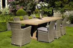 Outdoor Teak Dining Set by Bramblecrest http://www.periodideas.com/outdoor-teak-dining-set-bramblecrest