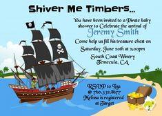 Pirate Ship - Baby Shower Invitations