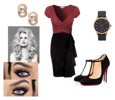 Rose Gold Office by meaganschneider on Polyvore featuring Moschino, Christian Louboutin, Kate Spade and Marc Jacobs