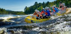 Go whitewater rafting with Maine Bound adventure trips!