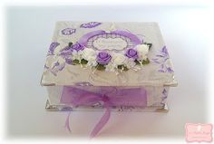 """Le Petit Ange: Χειροποίητο κουτάκι """"Ο θησαυρός της μαμάς""""( Purple..."""