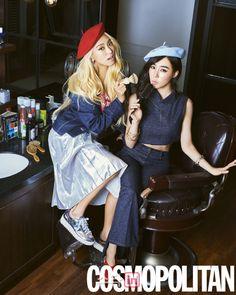 BFFs Bora & Tiffany for Cosmopolitan - Latest K-pop News - K-pop News | Daily K Pop News