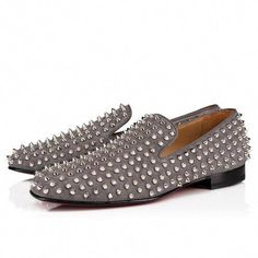f1f5f04b06ff Christian Louboutin United States Official Online Boutique - Rollerboy  Spikes Flat Shadow Sv Suede available online. Discover more Men Shoes by  Christian ...