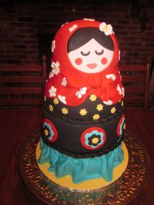 Matryoshka Doll Cake by cakedoodles