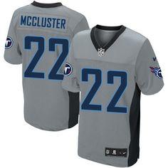 Dexter McCluster Men's Elite Grey Shadow Jersey: Nike NFL Tennessee Titans #22