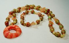 Handmade Paper Bead Necklace & Bracelet by ThePaperBeadBoutique
