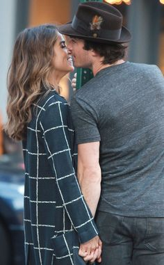 Ian Somerhalder and Nikki Reed indulge in PDA during a romantic stroll
