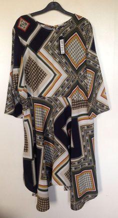 MARKS & SPENCER PATTERNED DRESS SIZE 22 BNWT #MarksandSpencer #AnyOccasion