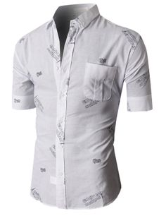 Doublju Casual Button-down Shirts Short Sleeve (KMTSTS022) #doublju