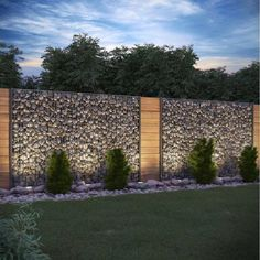 Gabion Stone Barrier Visual Protection Anthracite Stone Fence Gabion Fence Related posts: No related posts. The post Gabion Stone Barrier Visual Protection Anthracite Stone Fence Gabion Fence appeared first on lafinance. Fence Landscaping, Backyard Fences, Garden Fencing, Gabion Fence Ideas, Fence Planters, Front Yard Fence Ideas, Front Yard Landscaping Pictures, Driveway Fence, Nice Backyard