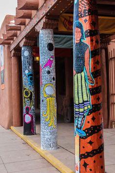 Chasing Santa Fe: Museum of Contemporary Native Arts - Santa Fe, New Mexico Santa Fe Trail, Santa Fe Nm, Southwest Usa, Southwest Style, Native Art, Native American Art, Travel New Mexico, New Mexico Homes, Santa Fe Style