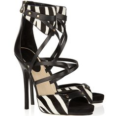 Ashley Tisdale in Jimmy Choo 'Jet' Zebra Print Sandals