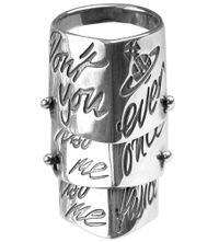 Kiss Me Twice Armour Ring by Vivienne Westwood