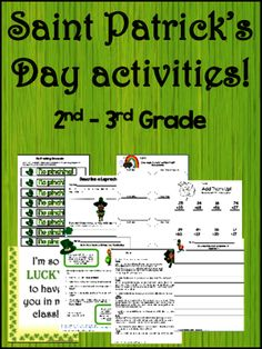Saint Patrick's Day Activities, Writing, and Fun! from My Broken Bootstraps on TeachersNotebook.com -  (49 pages)  - This packet has 4 writing activities that include brainstorming, rough draft, and final copy.  It has a few fun items and math worksheets, but it is primarily language based.