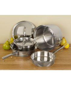 Cusinart Stainless Steel 8-piece nesting Cookware Set | Overstock.com Shopping - The Best Deals on Cookware Sets