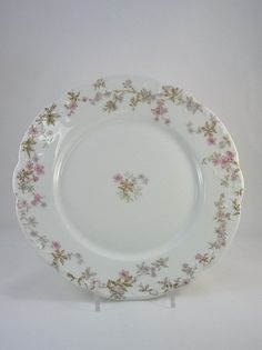 Antique Limoges Salad/ Dinner Plate- Limoges- Plate- Serving- Kitchen- Collectible- China- Porcelain