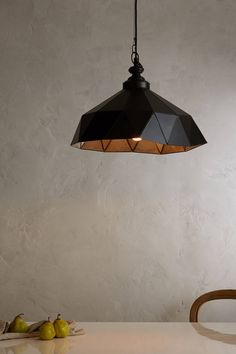 Faceted Steel Pendant Lamp
