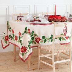 manteles-de-navidad-xiii Crochet Tablecloth, Winter Christmas, Christmas Ideas, Tableware, Tablecloths, Netherlands, Android, Sewing, Towels