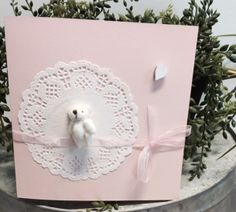 Vaaleanpunainen vauvakortti I Card, Frame, Handmade, Home Decor, Picture Frame, Hand Made, Decoration Home, Room Decor, Frames