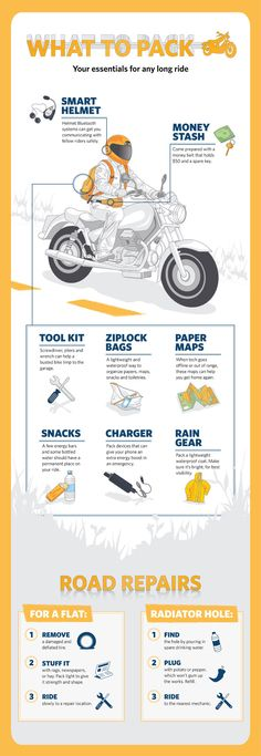 Get ready for a summer #motorcycle road trip with these essentials.