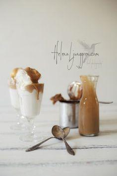 ... coconut ice cream with dulce de leche ...