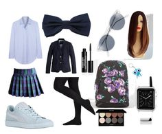 """School day #2"" by lyly15psr on Polyvore featuring mode, Volcom, Iris & Ink, bleu, J.Crew, A.J. Morgan, Casetify, Edward Bess et Tinc"