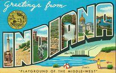 Vintage Travel Postcards | Greetings form Indiana