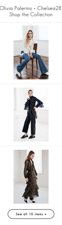 """""""Olivia Palermo + Chelsea28: Shop the Collection"""" by polyvore-editorial ❤ liked on Polyvore featuring OliviaPalermo, tops, skirts, pants, capris, sweaters, ivory pristine, cutout shoulder sweater, white cold shoulder top and rib sweater"""