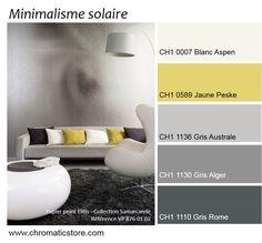 Association toujours réussie de différentes tonalités de gris et de jaune pour…