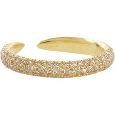 Eva Fehren Pale Champagne Diamond Claw Ring at Barneys.com
