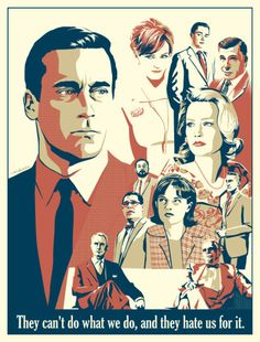 wow. wowowowowowow. fantastic fan art right here. the colors, the tagline, the composition... everything! awesome. #madmen