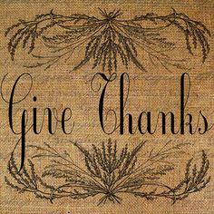 Thanksgiving - give thanks in everything