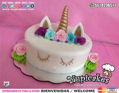 ¡Este pastel decorado en fondant de Unicornio se verá fabuloso en tu fiesta! ✨ ¡Haz tus pedidos HOY!   Cotiza en nuestra página  www.facebook.com/yupicakes  o vía WhatsApp al ☎ 5518206511  ENTREGAMOS EN TODA LA CDMX  #Yupicakes #CDMX #Pastel #Unicornio #Fondant #Fiesta #Fabuloso #Delicioso #Divertido #Original #Personalizado