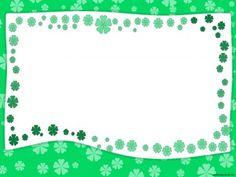 Green Garden Border Frame PPT Backgrounds