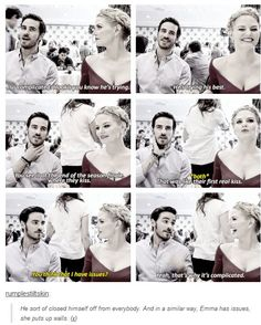 Jennifer and Colin - #SDCC 2014 -  That was like their first real kiss: