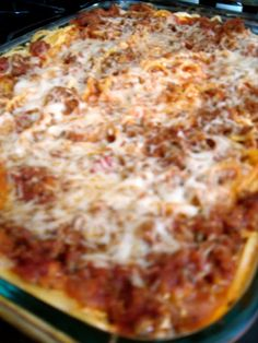 Baked Spaghetti | Six Sisters' Stuff Really good...fantastic leftovers. Might try it next time with ricotta.