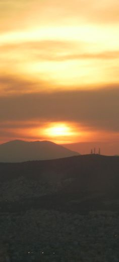 Magnificent sunset from Lykavittos, Athens, Greece Athens Greece, Capital City, Greek, Sunset, Places, Blog, Outdoor, Life, Sunsets
