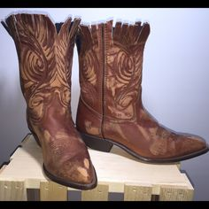 Vintage, Reworked, Leather Cowgirls These vintage leather cuties have character. I've reworked them to accommodate the amazing personality they have. Cut, fringed, distressed by me. So much fun Shoes Heeled Boots