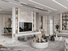 Living Room Tv Unit Designs, Ceiling Design Living Room, Home Room Design, Master Bedroom Interior, Interior Design Living Room, Elegant Living Room, Living Room Inspiration, House Rooms, Luxury Interior