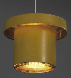 Enameled Aluminum Ceiling Light | Alvar Aalto for Valaistustyö Ky | 1950s