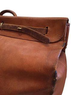 Louis Vuitton Leather Steamer Bag, circa 1930s 5